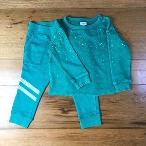 NWT Gymboree  Girls Sweatshirt and Sweatpants Outf